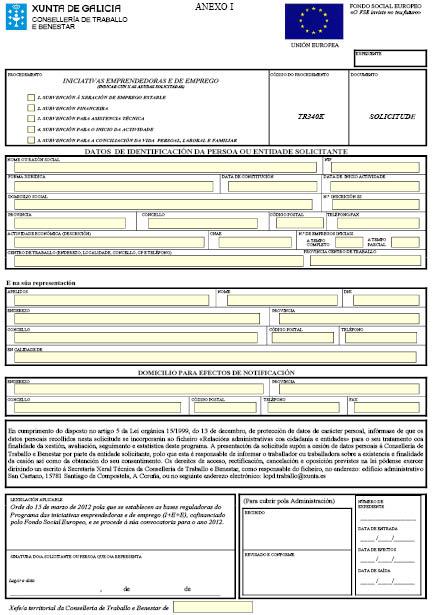 Orde do dog n 61 do 2012 3 28 xunta de galicia for Oficina de emprego galicia
