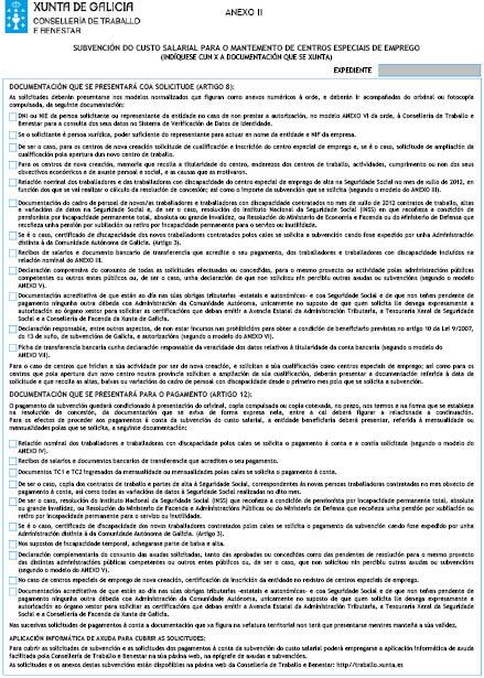 Orde do dog n 171 do 2012 9 7 xunta de galicia for Oficina de emprego galicia