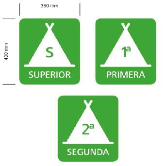 Placa de categorias de campings en Galicia