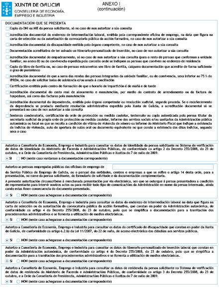 Orde do dog n 127 do 2016 7 6 xunta de galicia for Oficina de emprego galicia