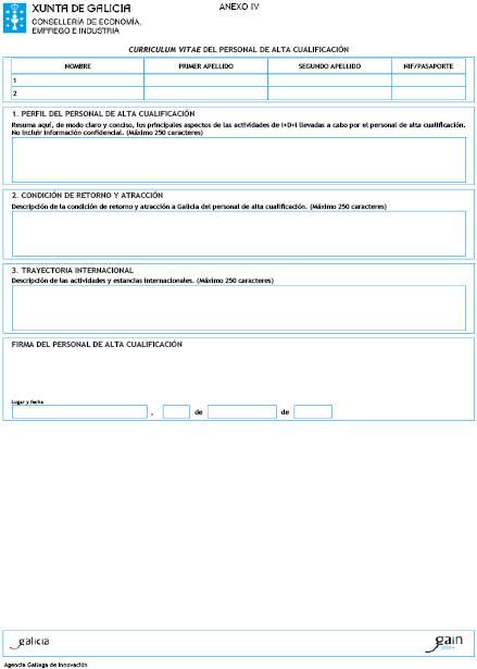 curriculum vitae normalizado xunta de galicia