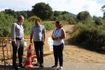 Cores Tourís supervisa o inicio das obras saneamento de Pazos, en Cotobade, executadas a través do Fondo de Compensación Ambiental