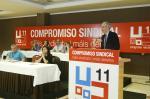 O conselleiro de Economía, Emprego e Industria, Francisco Conde, participou hoxe en Santiago na clausura do 11º Congreso Nacional de CCOO no que se elixiu á nova executiva do sindicato liderada por Ramón Sarmiento