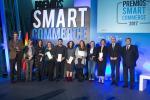 O conselleiro de Economía, Emprego e Industria, Francisco Conde,  na entrega dos premios Smart Commerce 2017