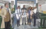 A directora xeral de Comercio e Consumo, Sol Vázquez, visitou hoxe esta infraestrutura da localidade pontevedresa, clave para a dinamización do comercio de proximidade, na que se instalou un ascensor panorámico para mellorar a accesibilidade