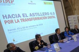 """Feijóo refírese á construción das F-110, que suporán carga de traballo ata o 2025, """"como a oportunidade definitiva"""" para a modernización do estaleiro de Ferrol"""