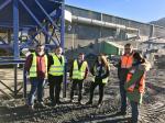O delegado territorial da Xunta en Lugo visitou a empresa de lousa A Campa, en Folgoso do Courel