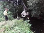 A Xunta executa actuacións de conservación e limpeza no río Vilar ao seu paso polo Concello de Vimianzo