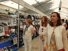 A Xunta destaca o apoio ao comercio de proximidade e aos centros comerciais abertos na feira de oportunidades SaldoMarín