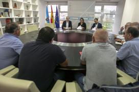A Xunta acorda cos sindicatos traballar de xeito conxunto para identificar medidas que garantan o emprego industrial e o futuro do sector enerxético en Galicia