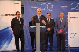 A Xunta reivindica en Viveiro o valor da innovación e a sustentabilidade da enerxía eólica no XX aniversario de Vestas