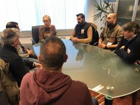 Corina Porro reúnese co comité de empresa de Barreras