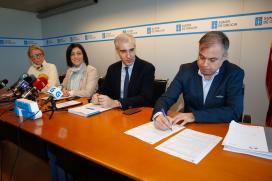 A Xunta dálle un pulo definitivo á Plisan coa sinatura da adxudicación das cinco primeiras parcelas de solo empresarial