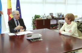 Conde avalía coa alcaldesa de Trazo vías de colaboración para impulsar o emprego e a economía do concello