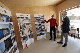 A Xunta destaca en Outeiro de Rei o seu compromiso coa eficiencia enerxética e o respecto medioambiental fomentando a construción en madeira