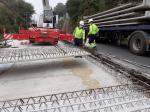 Os avances nos traballos da senda peonil e ciclista en Portomarín, fan necesario o desvío do tráfico en horario laboral hoxe e mañá na estrada autonómica LU-633