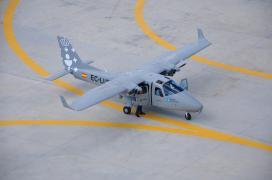 O Polo Aeroespacial de Galicia acolle as probas finais de voo do Targus, o avión opcionalmente pilotado de Indra e Xunta