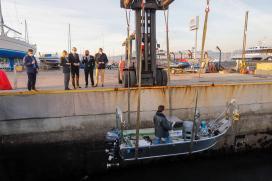 Conde subliña que o novo dron mariño de industrias Ferri encaixa na aposta da Xunta por orientar a aeronáutica cara á mellora dos servizos públicos