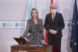 Conde apunta á transición ecolóxica e a modernización do comercio de proximidade como retos para os novos directores xerais Paula Uría e Manuel Heredia