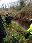 A Xunta realiza actuacións de conservación e limpeza no treito interurbano dos ríos Bouzas e Ponteceso ao seu paso polo Concello de Ponteceso