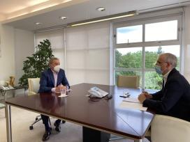 A Xunta avalía con Xunqueira de Ambía as medidas de impulso da actividade económica e empresarial